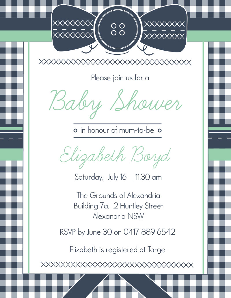 Cute Cute As A Button Baby Shower Invitations Contemporary ...