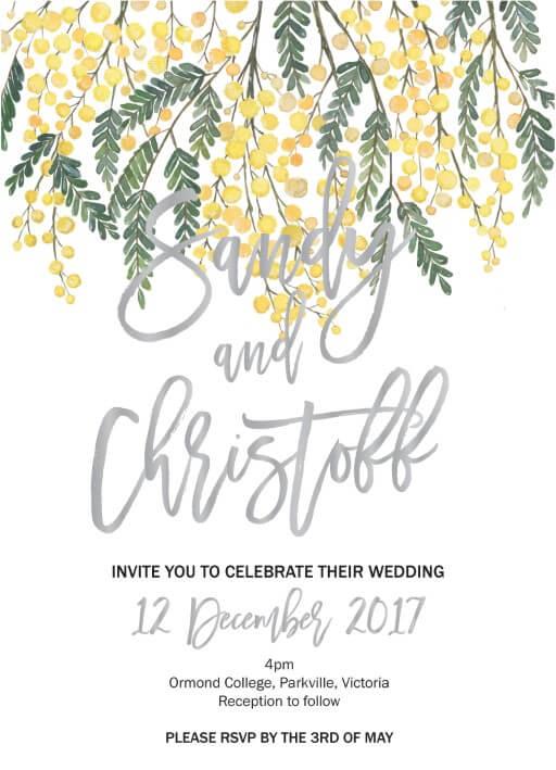 Golden Native - Invitations