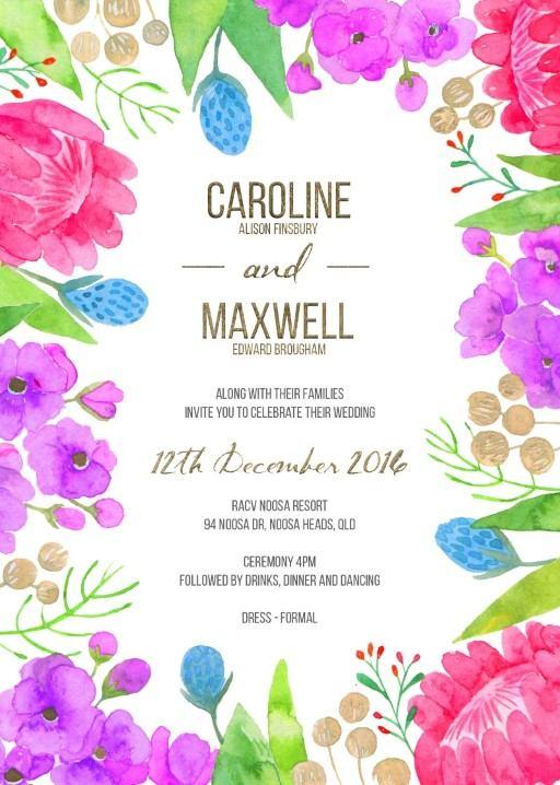 Native Bloom - Invitations