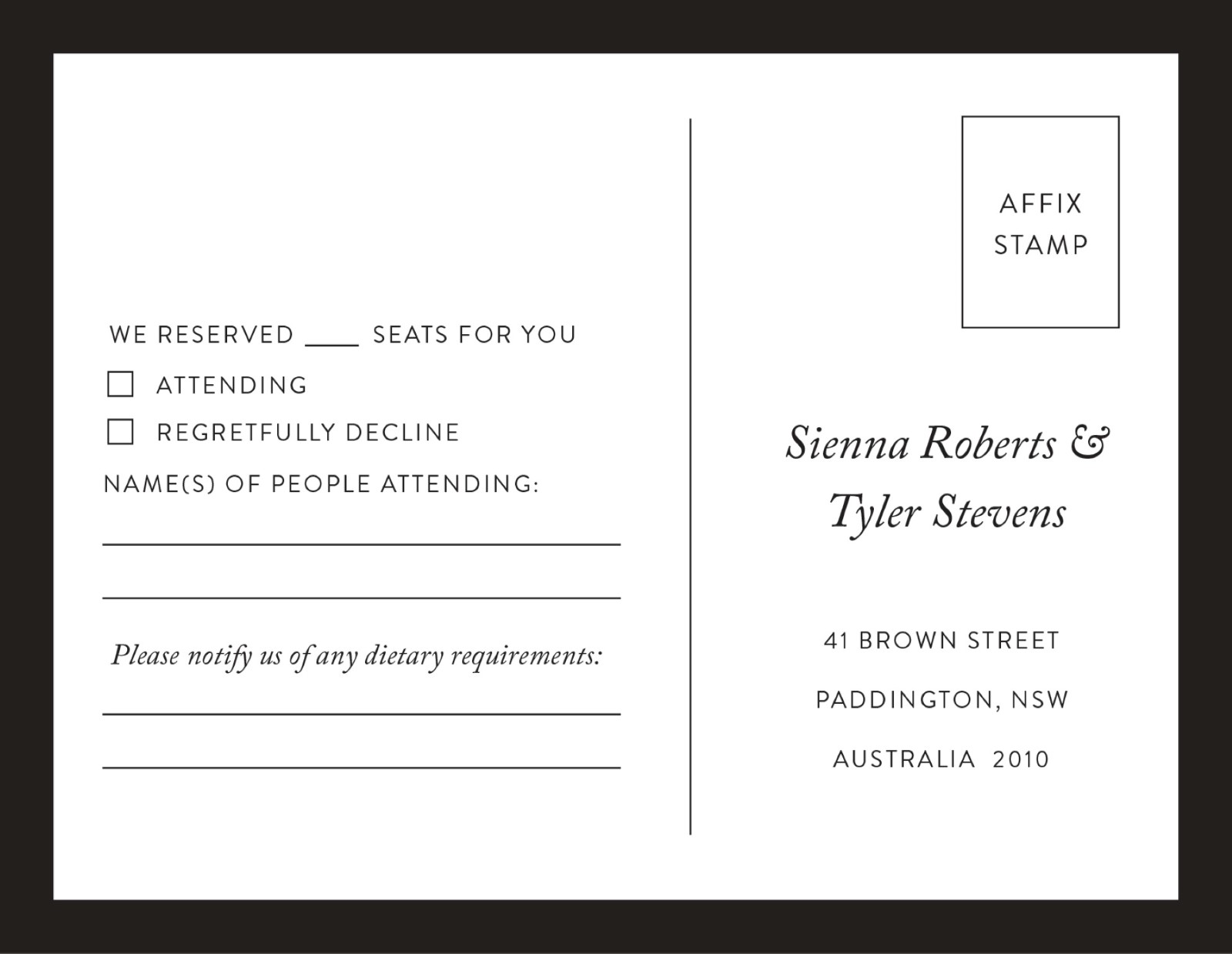 Rsvp Cards Australias Best Local Designs Printed By Paperlust RSVP 01 Wedding Wording