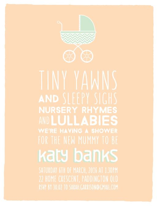 Tiny Yawns Digital Printing Baby Shower Invitations