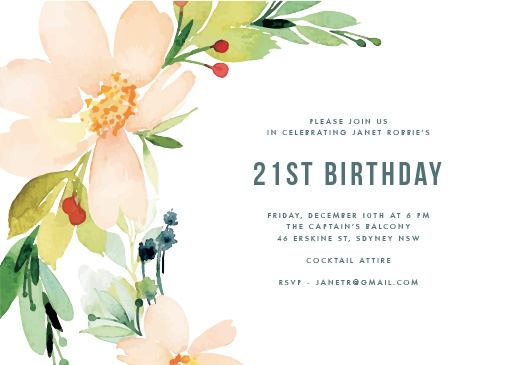 Birthday Invitations By Australian Creatives – Personalised 21st Birthday Invitations