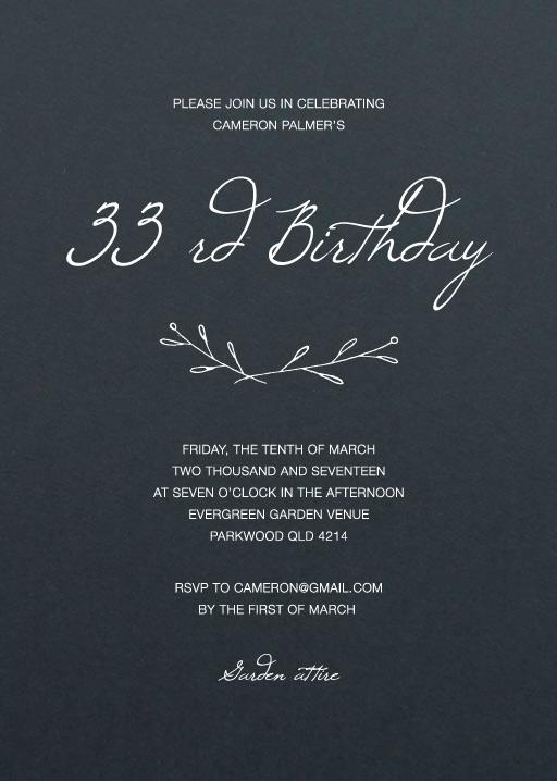 Rustic Birthday - Birthday Invitations
