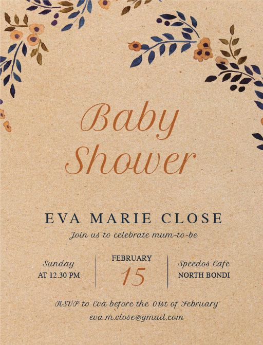 Baby's coming - Baby Shower Invitations