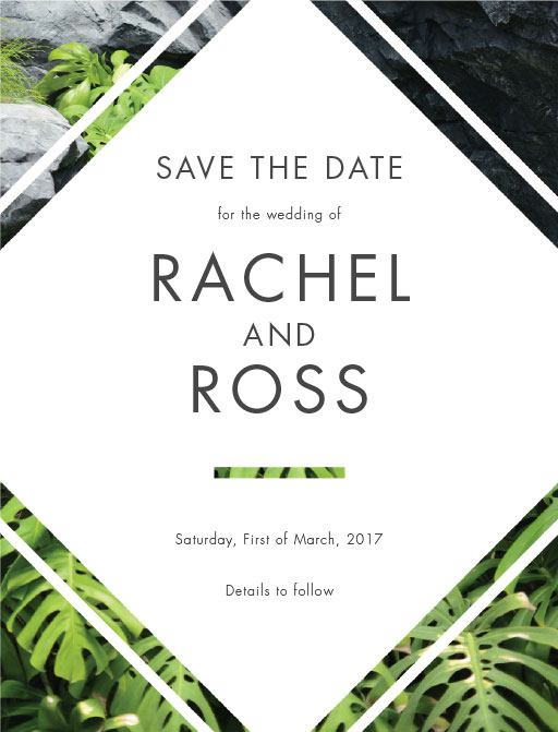 Modern Tropical - Save The Date