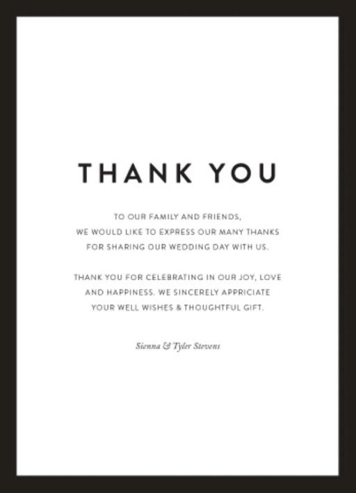 Minimal Thank You Cards
