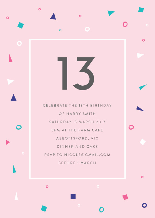Pastel Neon Disco Birthd DP Birthday Invitations