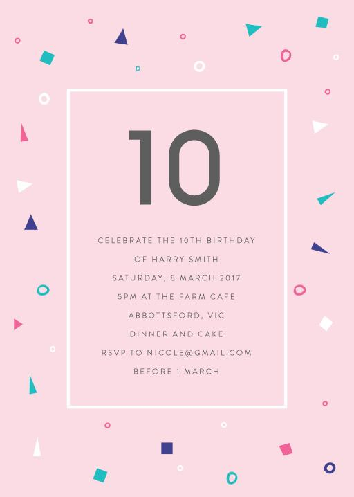Pastel Neon Disco Birthday Invitations