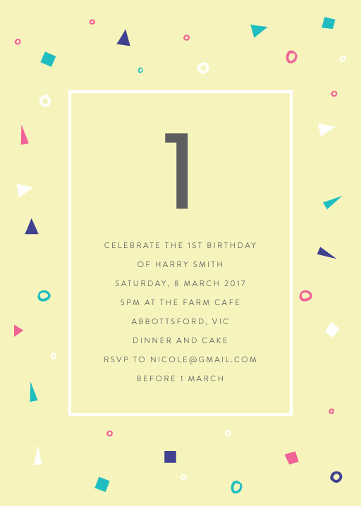 Pastel Neon Disco Birthday Invitations