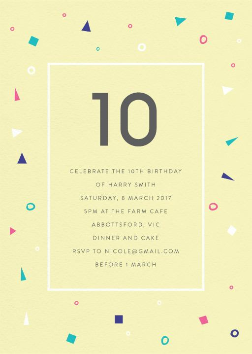 10th birthday invitations designs by creatives printed by paperlust pastel neon disco birthday invitations filmwisefo