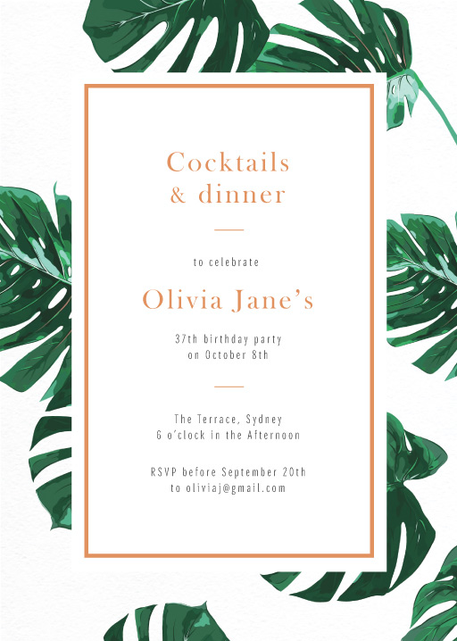 Tropical tale - Birthday Invitations