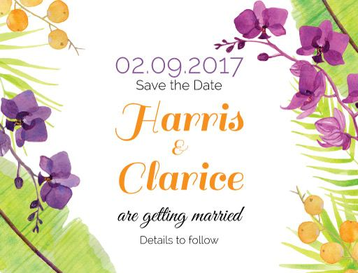 Island Wedding - Save The Date