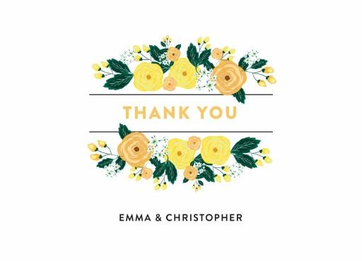 Florals - Thank You Card