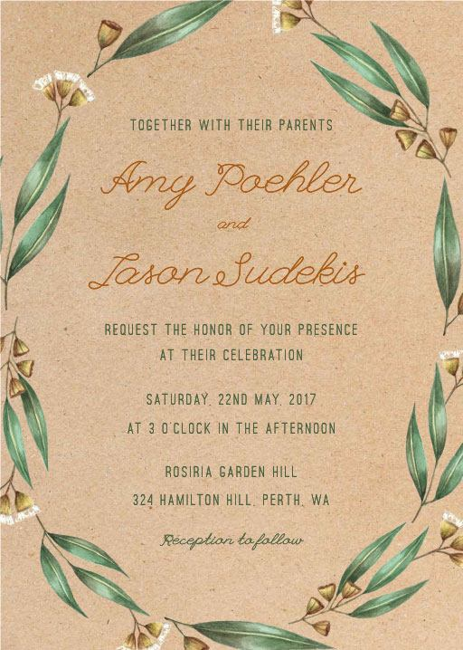 Under the Eucalyptus - Invitations