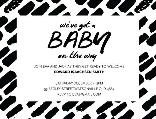 Brushed Baby - Baby Shower Invitations