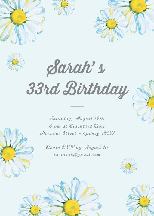 Blissful Birthday - Birthday Invitations