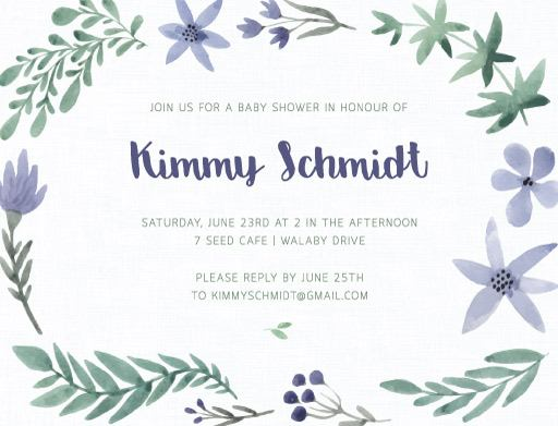Alice's flower - Birthday Invitations