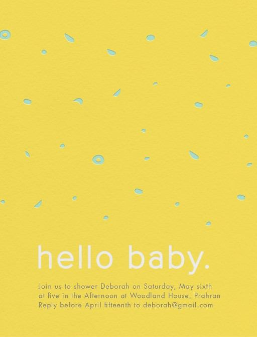 Warm Hello - Baby Shower Invitations