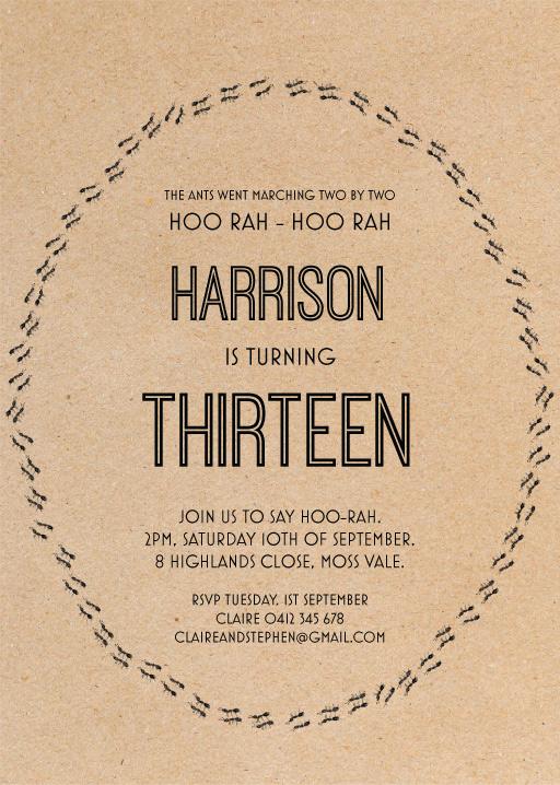 13th Birthday Invitations