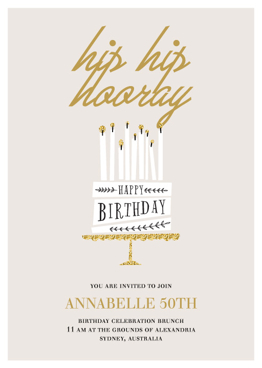 All About That Gold - Birthday Invitations