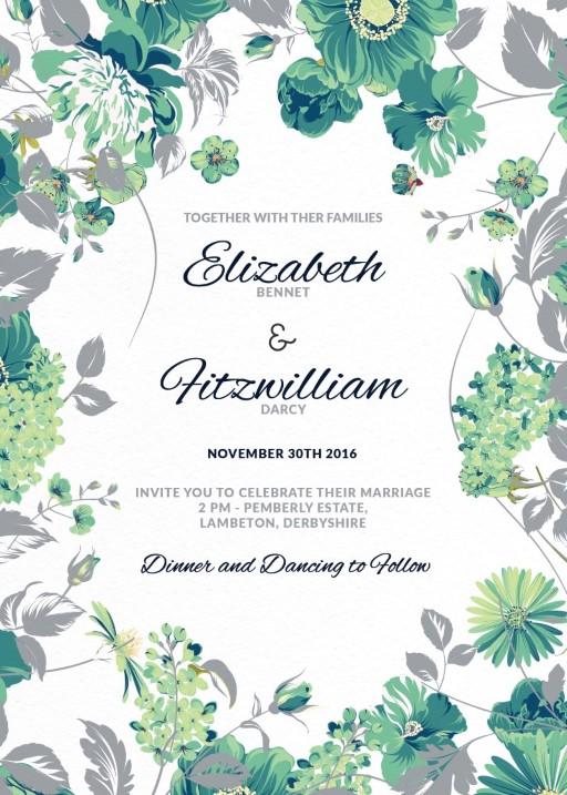 Florale - Invitations