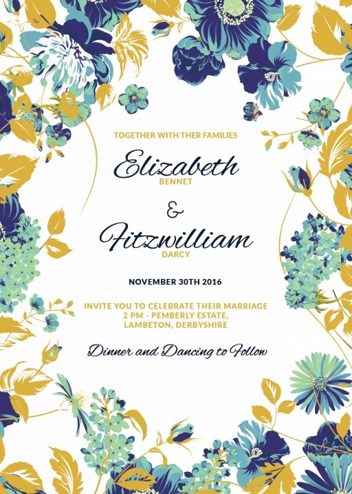 Floral Wedding Invitations Customize And Print Online With Paperlust