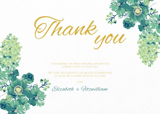 Florale - Thank You Cards