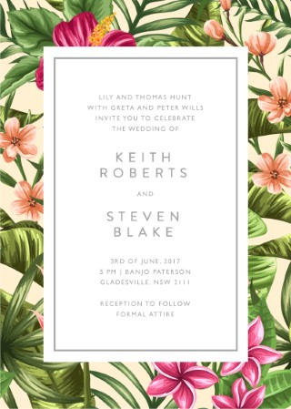 Sweet Tropical - Invitations
