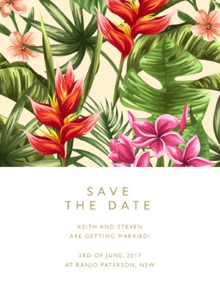 Sweet Tropical - Save The Date