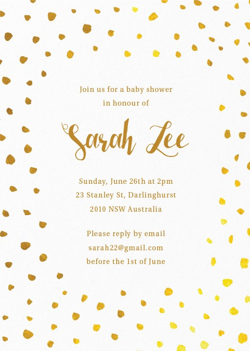 Australian baby shower cards foil meadows baby shower invitations filmwisefo