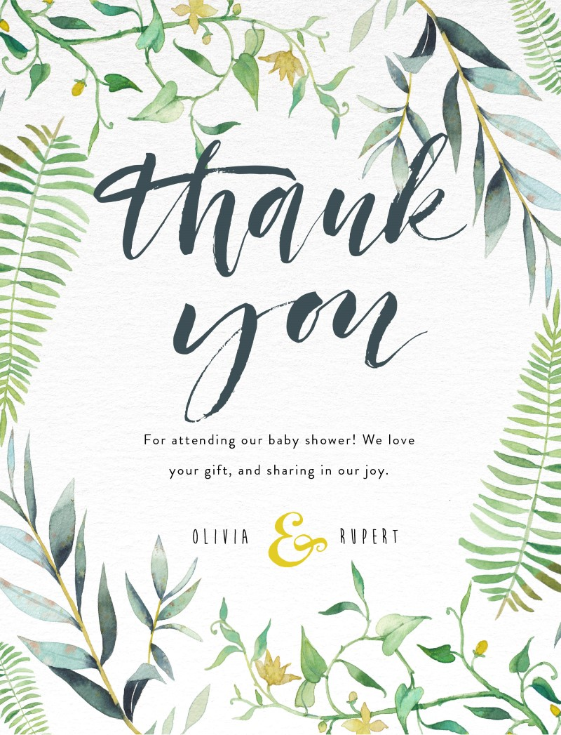 Floral Thank You Dp Baby Shower Thank You Cards