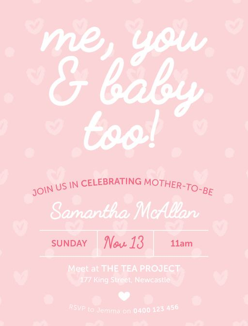 B is for Baby - baby shower invitations