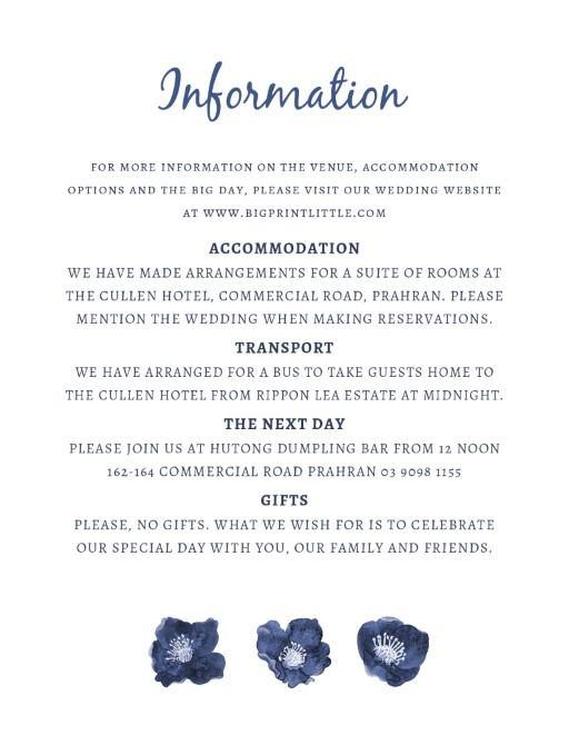 Blue Floral - Information