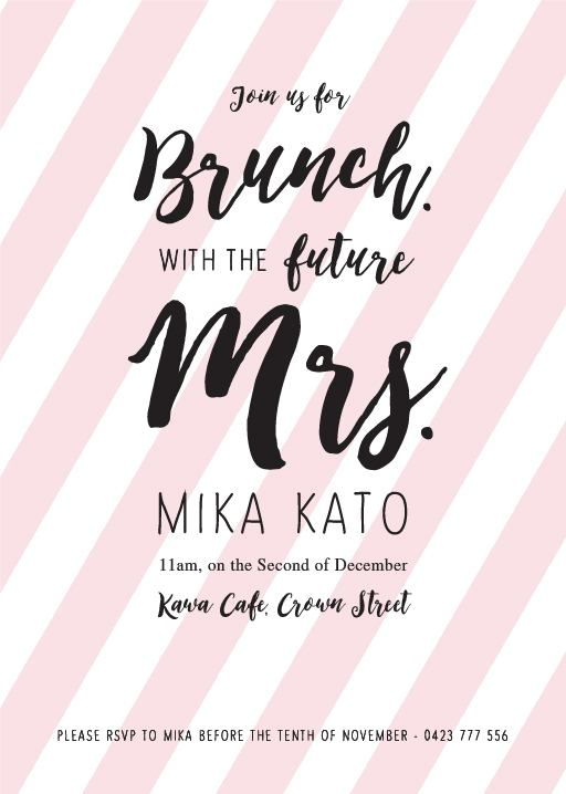 d29e8b5d078 Brunch Bridal Shower - bridal shower invitations