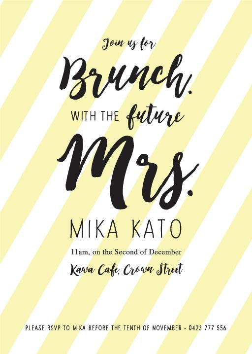 Brunch Bridal Shower - bridal shower invitations