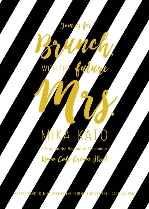Brunch Bridal Shower - Bridal Shower Invitations