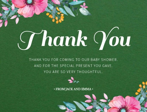Unsere Blueme - Baby Shower Thank You Cards