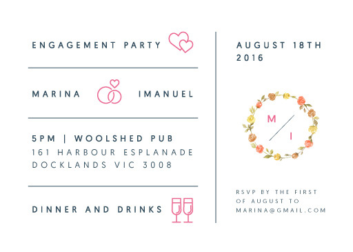 Love Story - Engagement Invitations