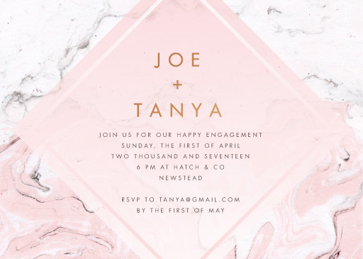 Love story - Engagement Invitations