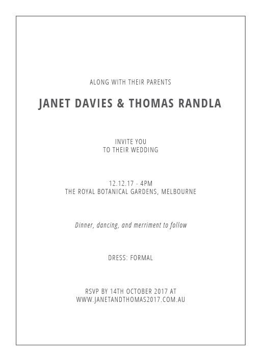 Scripty - Invitations