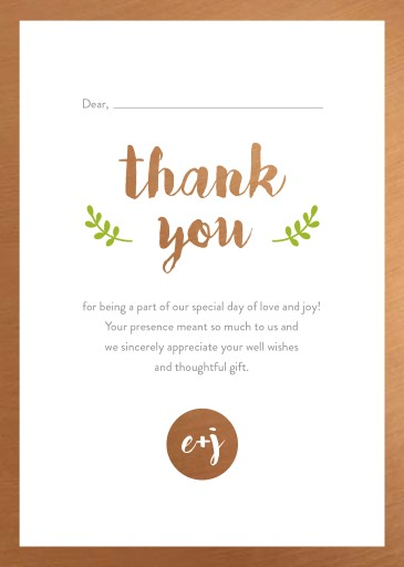 Naturals - Thank You Cards