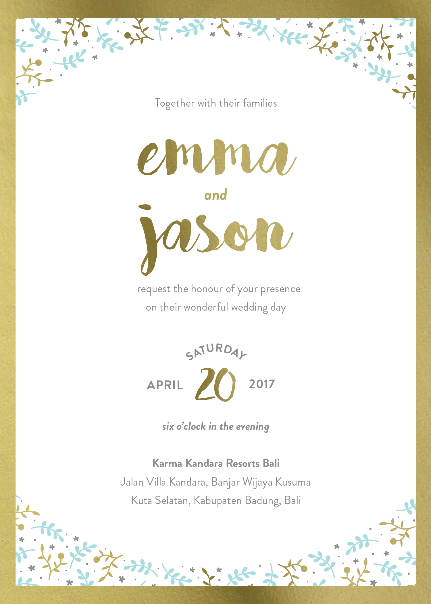 Naturals | Real Foil | Wedding Invitations