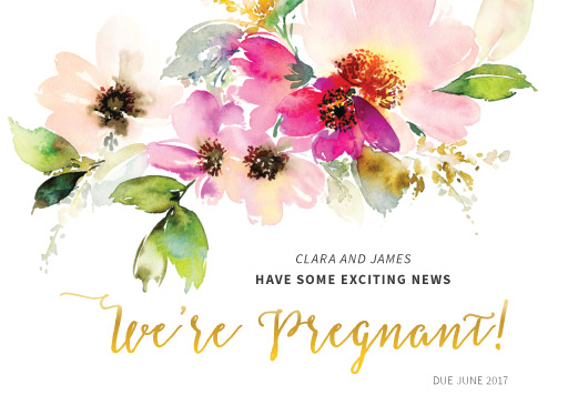 Miss Floweret - pregnancy announcements