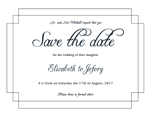 Elegance - Save The Date