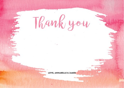 ombre watercolour - Thank You Cards