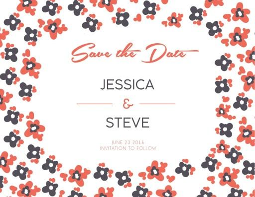 Morning Flowers - save the date