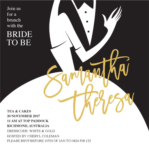 Suit and Gown - Bridal Shower Invitations