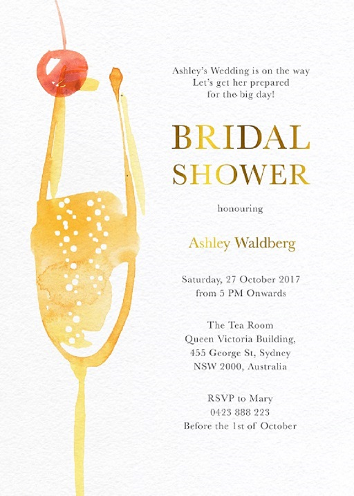 Pop the Champagne - Bridal Shower Invitations