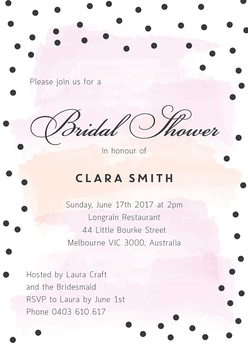 Baby Dots - Bridal Shower Invitations