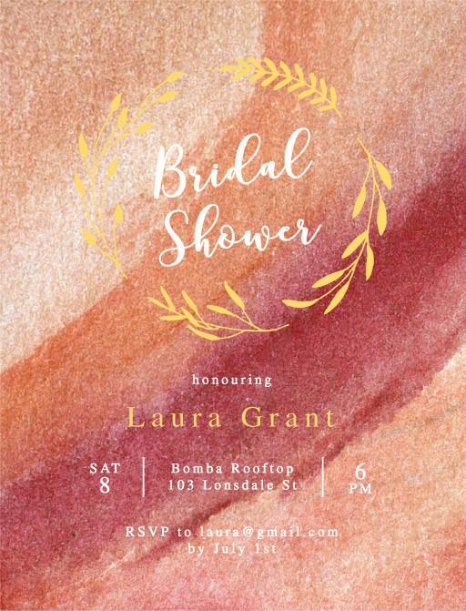 Blush - Bridal Shower Invitations